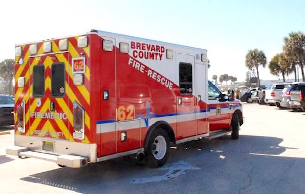 Brevard County Firefighter-Paramedic injured in West Melbourne. (Photo: Tim Shortt/Florida Today)