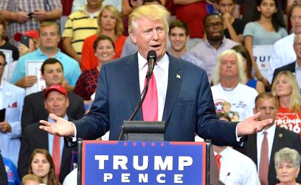 Donald Trump campaigns in Florida.
