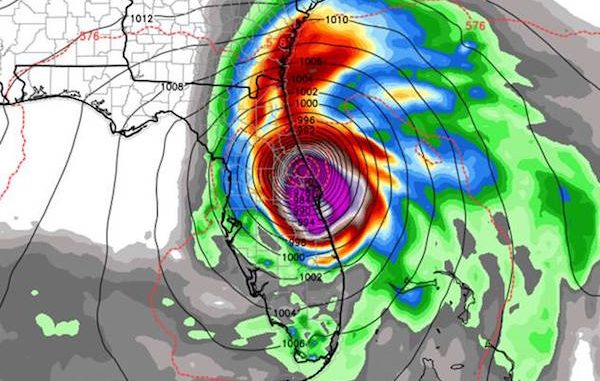 Euro Model shows potential landfall in Indian River and Brevard Counties.