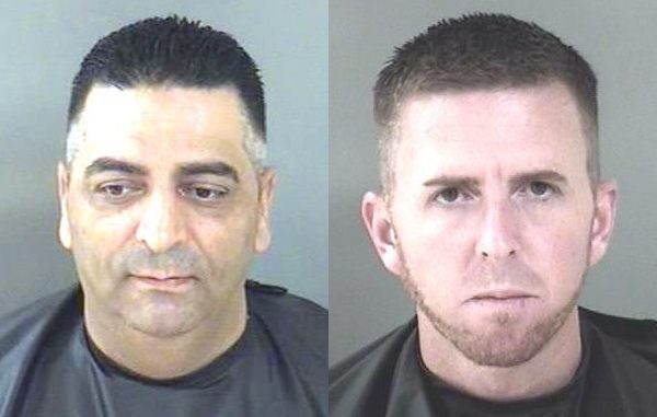 Mahmoud Mohammad Ibrahim and employee Jason Harlan Kreger arrested at Shark Mart.