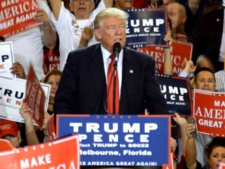 Donald Trump visits Melbourne, Florida.