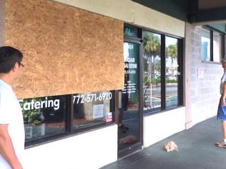 Hurricane Matthew leaves minimal aftermath in Sebastian, Florida.