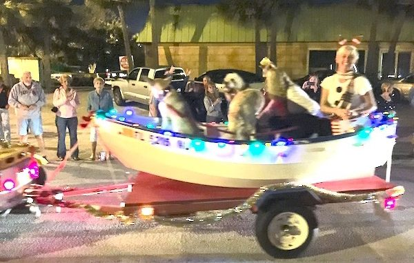 Annual Christmas parade in Sebastian, Florida.