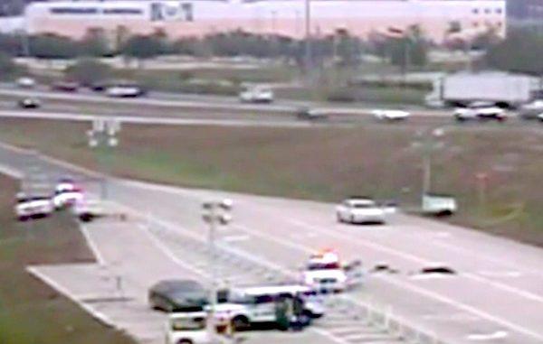 Florida I-75 civilian shoots man attacking deputy in Estero.