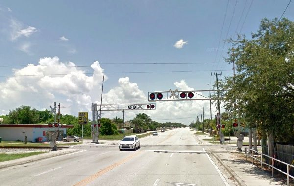 Pedestrian killed by train on Post Road in Melbourne, Florida.