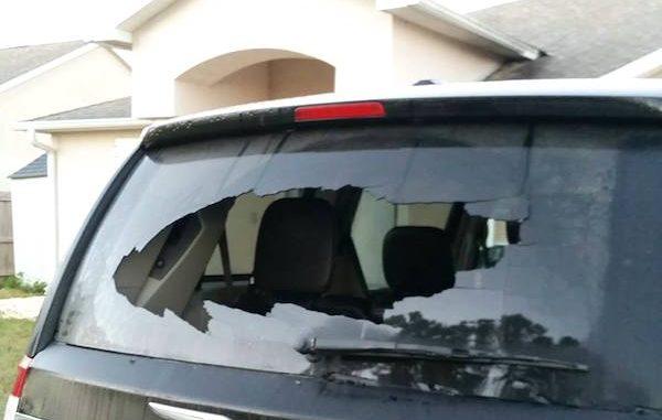 Resident finds back window smashed Monday morning in Vero Lake Estates.