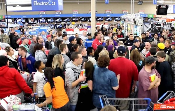 Walmart Black Friday deals on Thanksgiving Day.