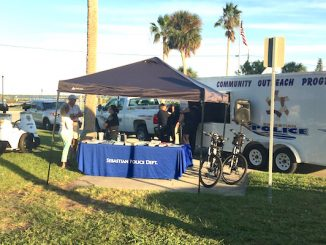 Sebastian Police Department at Community Night Out at Riverview Park.