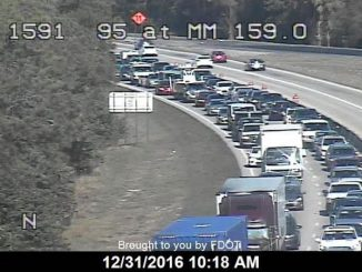 All southbound lanes closed on I-95 near Vero Beach.