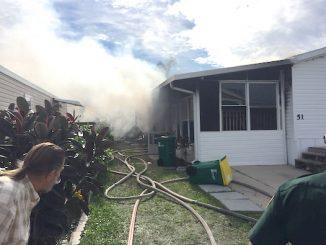 Mobile home fire in Micco.