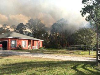 Brush fire in Grant.