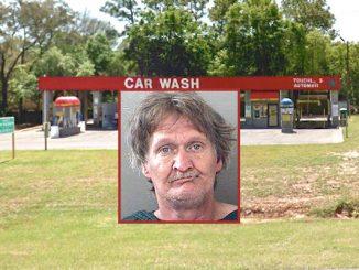 Florida man arrested at car wash.