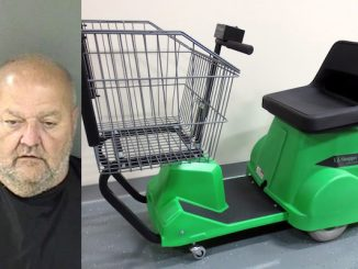 Sebastian River Medical center calls police after man drove in on a Publix motorized shopping cart.