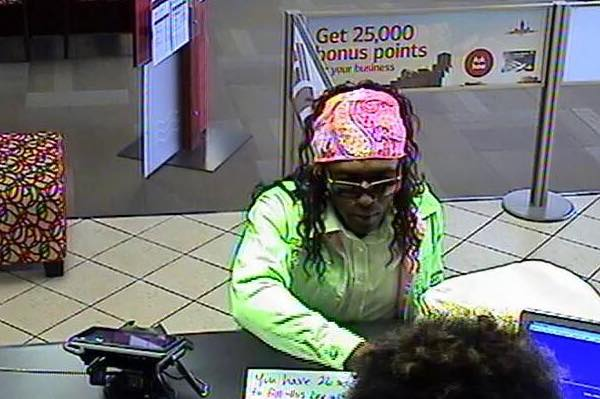 Lamar Coaston dressed as a woman as he robbed Bank of America on Malabar Rd.