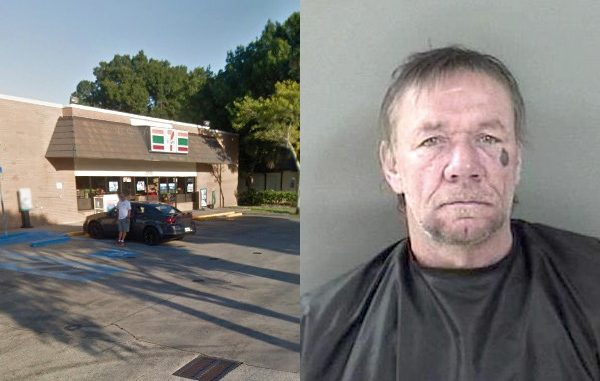 Vero Beach man yells at 7-Eleven customers for not giving him money.