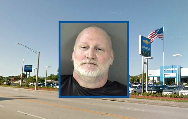 Vero Beach Dyer Chevrolet calls police about unruly customer.