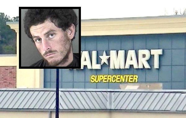 Walmart customer arrested after he spits on employee.