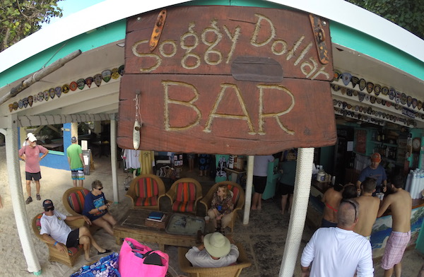 Visit the world famous Soggy Dollar Bar when you take a shore excursion from Tortola. They invented the Painkiller drink. Just down the beach is a place called Ivan's, where Kenny Chesney visits. Chesney wrote some of his music from the bar.