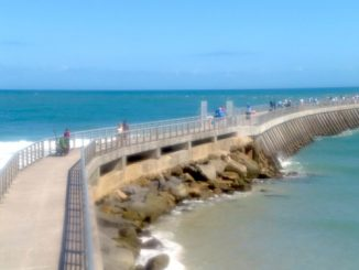 Sebastian Inlet fishermen are reporting human feces left on handrails of the North Jetty.