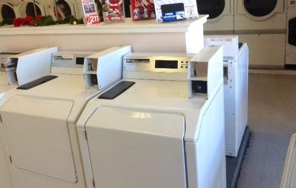 Sebastian Pelican Laundromat customers argue over shared folding table.