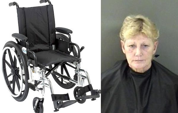 Woman hit wheelchair-bound woman in the face with computer charger in Vero Beach.