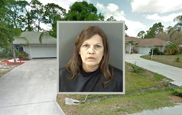 Two neighbors throw food during physical altercation in Vero Beach.