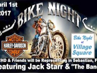 Bike Night at Village Square on April 1st in Sebastian.