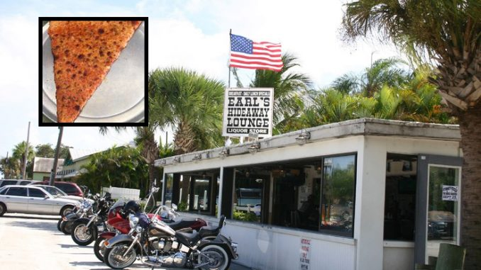 Top 5 places for the best pizza in Sebastian places Earl's Hideaway in first place.