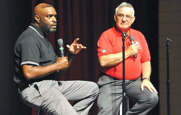 Antwone Fisher and Rick Miller will present The Soul, Science and Culture Of Hope at Vero Beach High School.