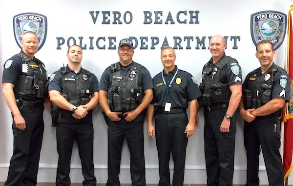 Officers from the Vero Beach Police Department will participate in the March of Dimes' Beards for Babies.