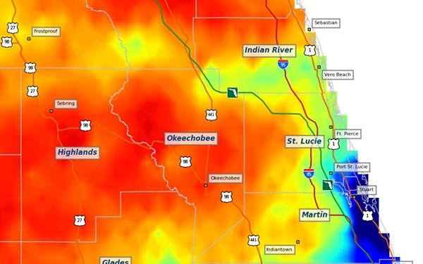 Burn ban notice in Indian River County, which includes Sebastian, Fellsmere, and Vero Beach.