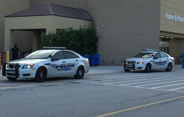 Police on scene at Sebastian Walmart.