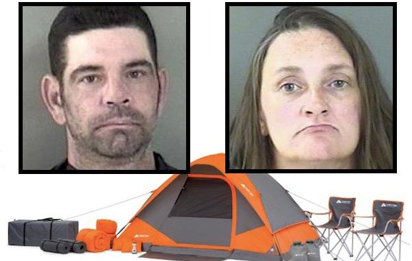 Walmart busts 2 people for trying to steal a tent at its store in Vero Beach.