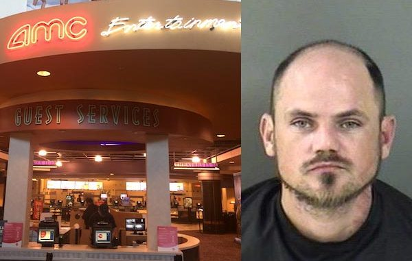 Vero Beach patrons complain to AMC staff about an intoxicated man harassing them during movie.