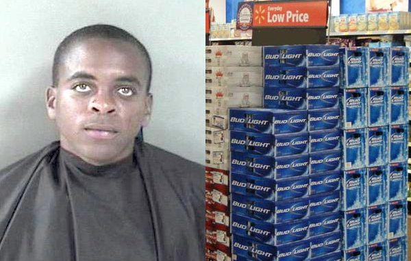 Vero Beach Walmart calls authorities after a man walks out with two boxes of beer.