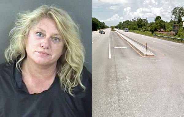 Citizen calls police after seeing woman vomiting on U.S. Highway 1 near Vero Beach.