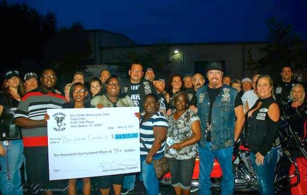 Vero Beach motorcycle club Iron Order raises money for Deputy Garry Chambliss' children.