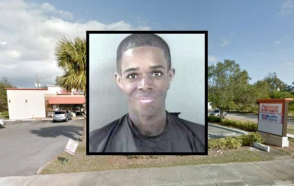 Man steals ice cream from Dunkin' Donuts and throws it on the ground in Sebastian.