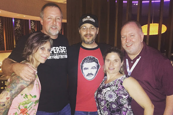Sebastian Daily staff meet Adam Rifkin. From left to right: Sherrenna Keeler, Pete Keeler, Paul Rifkin, Tina Hodges, and Andy Hodges.