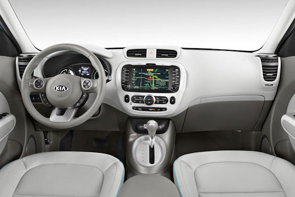 Interior design of the 2017 Kia Soul.