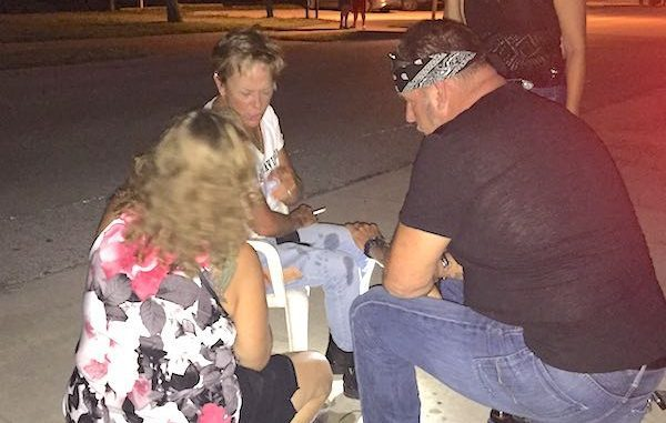 Earl's Hideaway patrons help female victim who was hit by an older model Ford Mustang in Sebastian.
