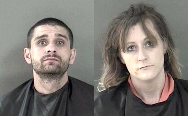 Couple found with drugs and child in vehicle at Vero Beach lot.