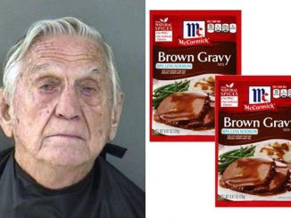 Man runs out of gravy at home, so he steals it from the Walmart store in Vero Beach.
