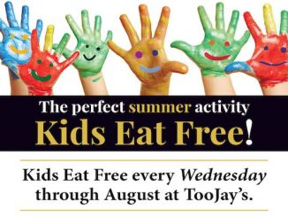 Vero Beach TooJay's announced Kids Eat Free every Wednesday until August 30.