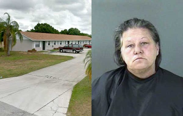 Woman screams at residences from the street in Vero Beach.