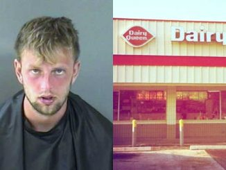 Fellsmere Dairy Queen manager calls police after man trashes bathroom with feces and urine.