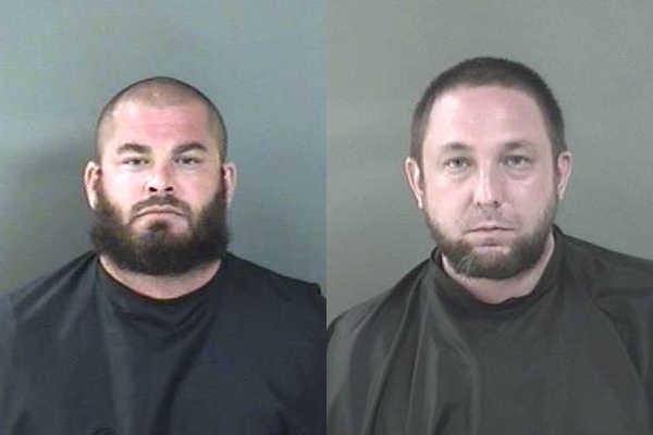 Jason Bowman of Fort Lauderdale and Daniel Fournier of Boynton Beach were arrested at Earl's Hideaway in Sebastian.