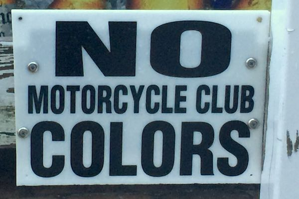 No motorcycle club colors allowed in Earl's.