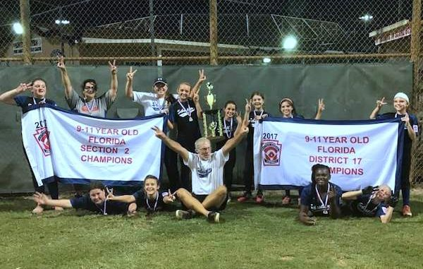 The Sebastian River Area Little League now has an All-Star softball team after winning the District 17 Championship.