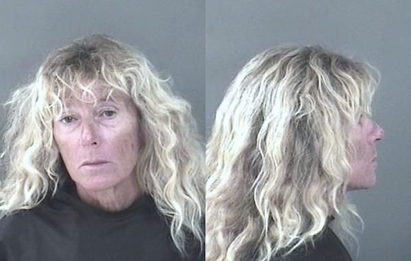 Woman arrested on a trespass warrant after soliciting men for sex.